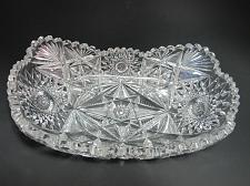 Buy ABP Signed Libbey Melrose American Brilliant Period Cut Glass tray Antique