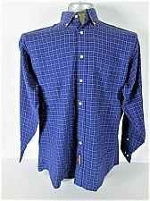 Buy TOMMY HILFIGER mens 15 1/2 32-33 L/S BLUE RED CHECKS POCKET DRESS SHIRT (S)