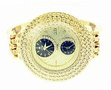 Buy Mens Icetime 2 ct Diamond Watch Illusion Dial Fully Iced Band 3 Row 50mm Kg-2
