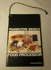 Buy Hamilton Beach Food Processor 1978 User manual