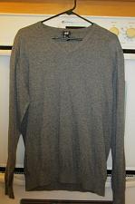 Buy H&M Graylong Sleeve V neck Sweater Shirt Men's Size Large L