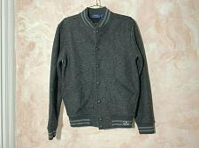 Buy Polo Ralph Lauren snap button Engraving madison ave NYC wool blend jacket gray