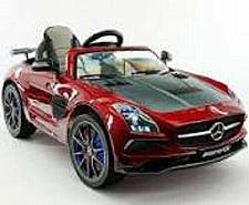 Buy 2021 12V Battery Powered Mercedes SLS AMG with Led Wheels MP4 Ride On Car