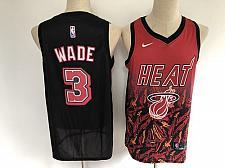 Buy Men's Miami Heat #3 Dwyane Wade Salute Red Black Jersey