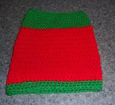 Buy Brand New Hand Crocheted Red Green Dog Snood Neck Warmer For Dog Rescue Charity