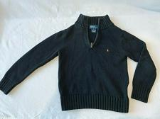 Buy Polo by Ralph Lauren Kid size 6 cotton 1/4 zip knit sweater pullover Black