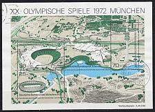 Buy GERMANY BUND [1972] MiNr 0723-26 Block 7 ( O/used ) Olympiade