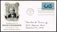 Buy Dwight D. Eisenhower Fleetwood Cachet Inauguration Day Cover |USACVRLOT-24XDP