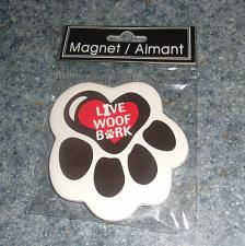 Buy Brand New Ceramic Dog Paw Design Live Woof Bark Magnet For Dog Rescue Charity