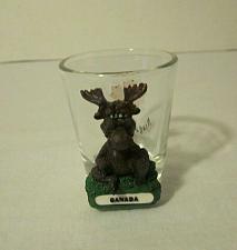 """Buy Unique """"Canada Moose"""" Niagara Falls Shot Glass w/ 3D Moose"""