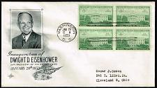 Buy Dwight D. Eisenhower Fleetwood Cachet Inauguration Day Cover |USACVRLOT-25XDP