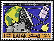 Buy Qatar #244 Goonhilly Satellite Station; Unused (2Stars) |QAT0244-03
