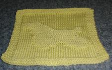 Buy Brand New Hand Knit Cocker Spaniel Yellow Dish Cloth For Dog Rescue Charity
