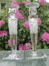 Buy Signed Hawkes Cut Glass pair candle sticks USA , crystal
