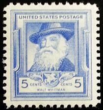 Buy 1940 5c Walt Whitman, American Poet Scott 867 Mint F/VF NH