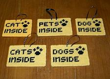 Buy Needlepoint Pet Emergency Sign CAT CATS DOG DOGS PETS For Dog Rescue Charity