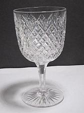 Buy ABP American Brilliant Period hand Cut Glass blown Strawberry diamond goblet