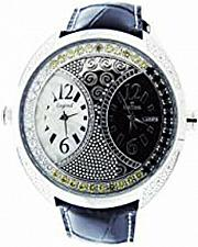 Buy IceTime Two Time Zone 12 diamonds 48mm Watch black & Yellow MOP face