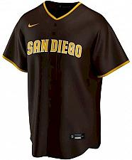 Buy Men's Brown San Diego Padres Road Replica Team Jersey