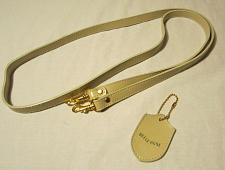 """Buy Beige Faux Leather Clip On Replacement Purse Strap 49"""" + Belle Rose Key Chain"""