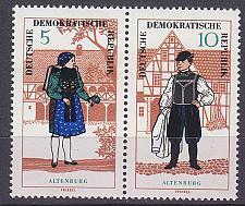 Buy GERMANY DDR [1966] MiNr 1214 WZd162 ( **/mnh ) Trachten