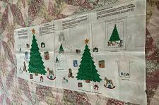 Buy Brand New Cranston VIP Cotton Fabric Panel Christmas Tree Appliques 4 Dog Rescue