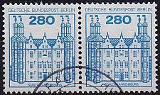 Buy GERMANY BERLIN [1982] MiNr 0676 2er ( O/used ) Burgen Schlösser