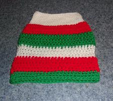 Buy Brand New Hand Crocheted Red Green White Dog Snood Neck Warmer 4 Rescue Charity