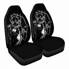 Buy bowsette white Car Seat Covers Nerdy Geeky Pop Culture Set of 2 Front Seat