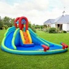 Buy Inflatable Water Slide Bounce House with Mighty Splash Pool