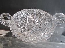 Buy Hand Cut Glass 2 handled bowl abp