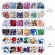 Buy 12 Grids/Set Mixed Color Holographic Nail Stickers Decals Starry Sky Transparent