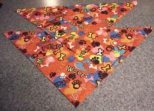 Buy Two Brand New Red Fetch Woof Hearts Bones Dog Bandanas For Dog Rescue Charity