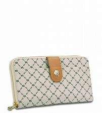 Buy Rioni Signature (Ivory) button fold wallet STN-W079