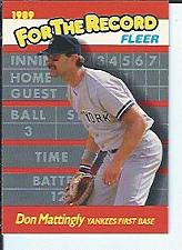 Buy Don Mattingly 1989 Fleer For The Record