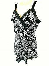 Buy Studio 1940 Women's XL Black White Layered Look Fully Lined V Neck Tank Top (E)