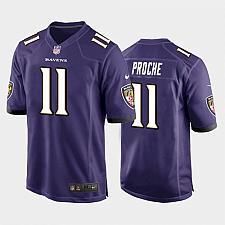 Buy Men's Baltimore Ravens James Proche Game Jersey - Purple