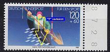 Buy GERMANY BUND [1985] MiNr 1239 F30,I ( **/mnh ) Sport Plattenfehler