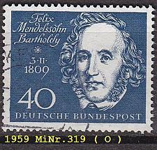 Buy GERMANY BUND [1959] MiNr 0319 ( O/used ) Musik
