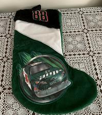 Buy Brand New Dale Jarrett #88 Christmas Stocking Nascar Green Velvet 15 Inches