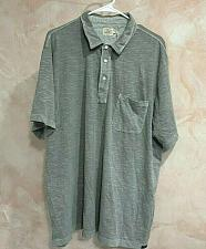 Buy Faherty Men's polo Gray sunwashed 3 buttons Size XXL