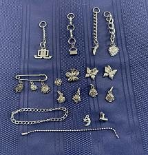 Buy 17 Piece Assorted Silvertone Jewelry Findings Charms Chains Pin Butterfly Flower