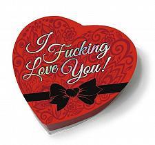 Buy I F#CKING LOVE YOU HEART BOX CHOCOLATES - ROMANCE