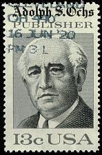 Buy US #1700 Adolph S. Ochs; Used (2Stars) |USA1700-05