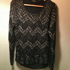 Buy Lucky Brand Women`s XL Chevron Sweater