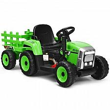 Buy 12V Kids Ride On Tractor with Trailer Ground Loader