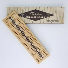 Buy Pleasantime Cribbage Board 705 Wooden 2 Tracks With Pegs 10 Inch Pacific Game Co