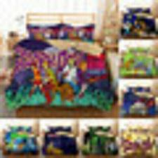 Buy 2020 Newest 3D Scooby Doo Print Cool Bedding Set Duvet Cover with Pillowcases