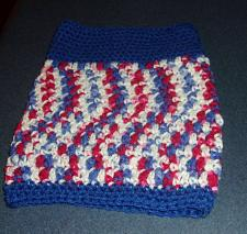 Buy Brand New Hand Crocheted Red White Blue Patriotic Dog Snood Neck Warmer Charity