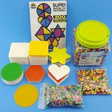 Buy Perler 17500 Fused Beads 11,000+ Multicolor 50 Pegboards Pattern Design Book Lot